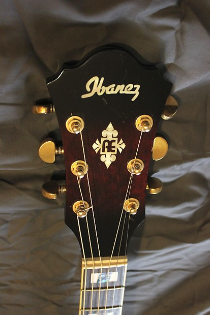 Ibanez Aef37e 2007 Red Acoustic Electric Guitar Reverb