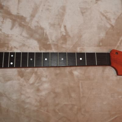 Strat Big Headstock Style Unfinished Neck Wenge on Padauk 22 Medium Tall Frets C Profile 12 Radius
