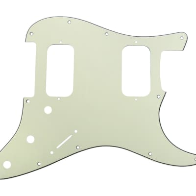 920D Custom 3 Ply HH Pickguard S Style CNC Cut, Mint Green