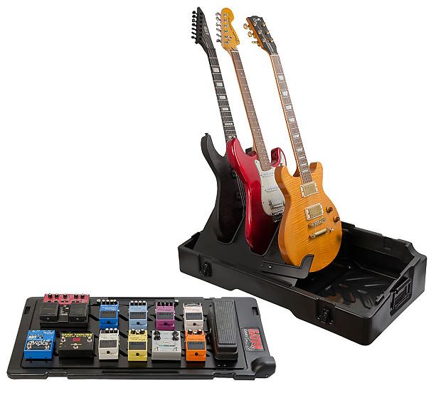 gator g gigbox2 updated gig box pedal board guitar stand case reverb. Black Bedroom Furniture Sets. Home Design Ideas