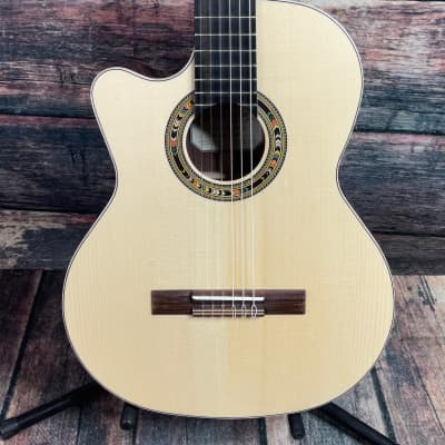 Kremona Left Handed F65CW-SB All Solid Fiesta Cutaway Classical Acoustic Electric Guitar for sale