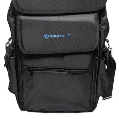 Rockville Carry Bag Backpack Case For Alesis Q25 Keyboard Controller