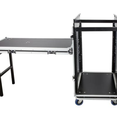 OSP 16 Space ATA Road Case w/14u Top Mounting for High-Back Mixers + Lid Table