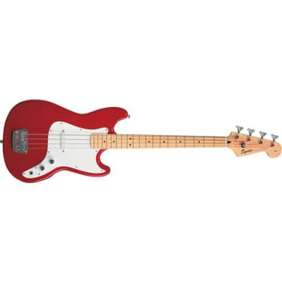 Squier Affinity Series Bronco Bass Guitar, Maple Fingerboard, Torino Red