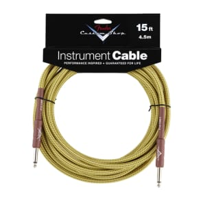 Fender Custom Shop 15' Tweed Instrument Cable for sale