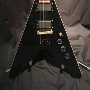 Indie Flying V Guitar Black for sale