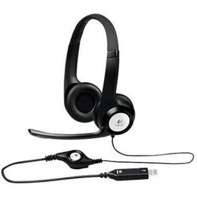 Logitech ClearChat H390 Comfort USB Headset with Noise-Canceling Microphone for Windows and Mac