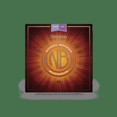 D'Addario NBM11540 Nickel Bronze 11.5-40 Custom Medium Mandolin Strings 5 Sets