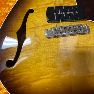 Gustavsson blues master vento ( rare ) throbaks hollow 335 from the best sunburst for sale