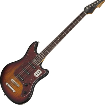 Schecter Hellcat-VI Electric Guitar 3-Tone Sunburst Pearl for sale