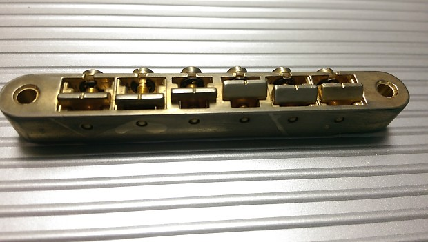 Faber ABRH ABR-1 bridge for Gibson Historic or other guitar, aged gold, no  wire