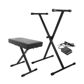 On-Stage KPK6520 Keyboard Stand/Bench Pack w/ Sustain Pedal
