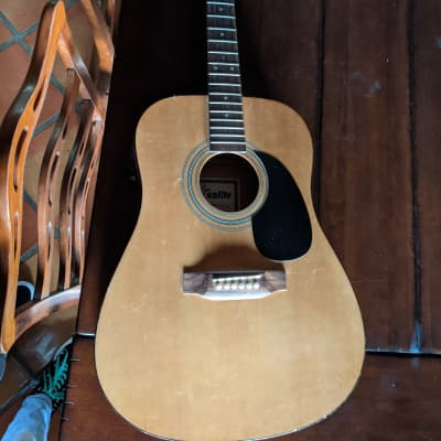 Sunlite Acoustic Guitar With Built In Tuner  Natural for sale