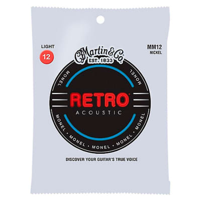 Martin MM12 Retro Series Acoustic Guitar Strings 12-54