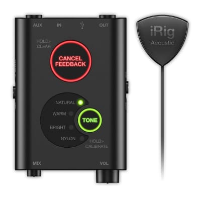Open Box MINT IK Multimedia iRig Acoustic Stage Digital Microphone System  for Acoustic Guitar