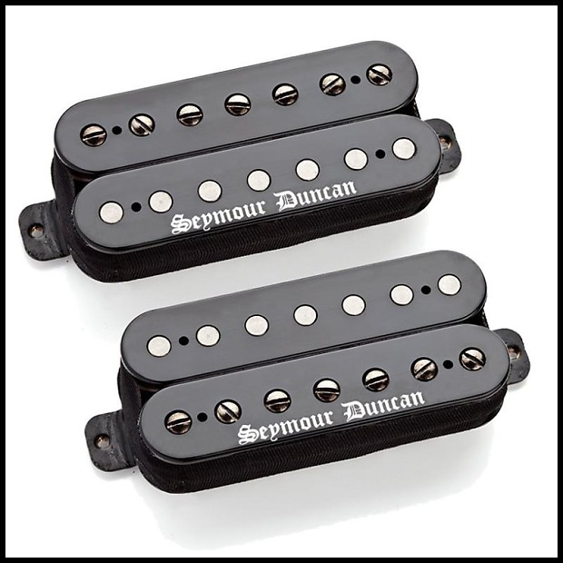 Seymour Duncan Black Winter Humbucker Pickup Set In Black With Red Logo