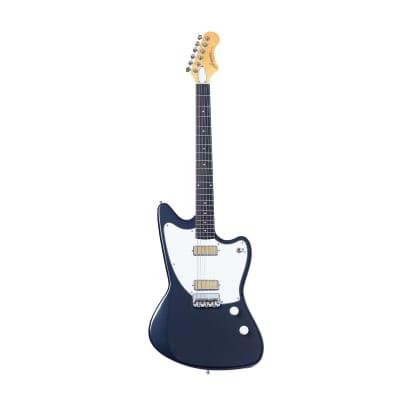 Harmony - Silhouette Electric Guitar, Slate w/Deluxe Mono Case for sale