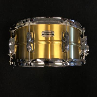 "Yamaha RRS-1465 Recording Custom 6.5x14"" Brass Snare Drum"
