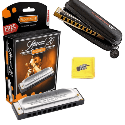 Hohner Special 20 Progressive Harmonica with Free Pouch and Cloth - Key of F