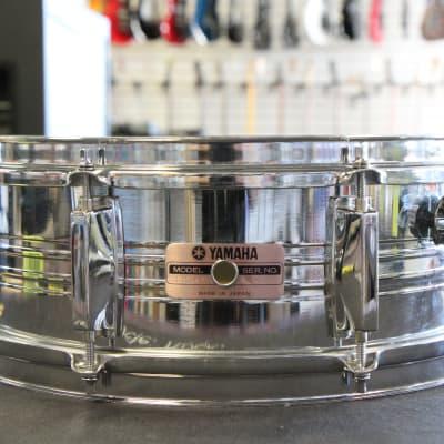 """Yamaha SD-350MG 5x14"""" 8-Lug Steel Snare Drum"""