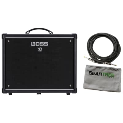 Boss KTN-50 Katana 50watt Electric Guitar Amplifier Bundle w/Cable and Cloth
