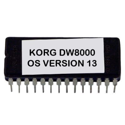 Korg DW-8000 Version 13 firmware latest OS update upgrade EPROM - DW8000