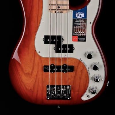 Fender American Elite Precision Bass with Ash Body 2017 Tobacco Sunburst