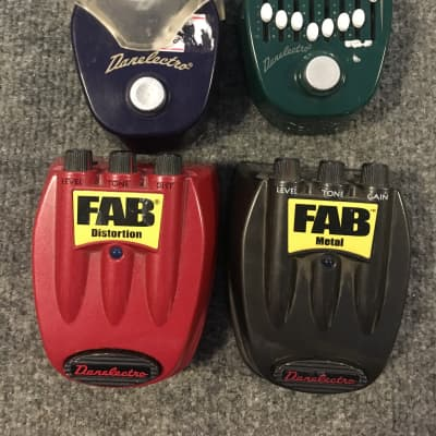 Danelectro Fish and Chips, Corned Beef, Fab Disortion + Metal for sale