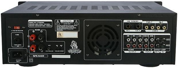 Vocopro DA-3700 PRO 240 Watt Powered Karaoke Mixer / | Reverb