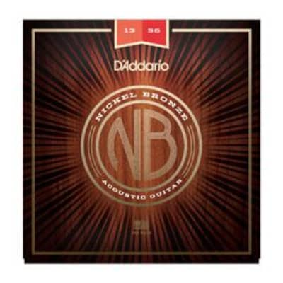 D'Addario NB1356 Nickel Bronze Acoustic Guitar Strings 13-56