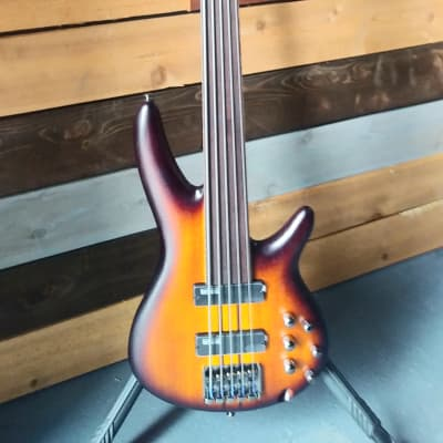 Ibanez - SR Series SRF705BBF | 5 String Electric Bass / Brown Burst Flat - Factory Second for sale