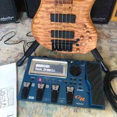 MTD 535-24 2017 Quilted Maple 5 string bass Michael Tobias + new Roland GR-55 guitar synthesizer for sale