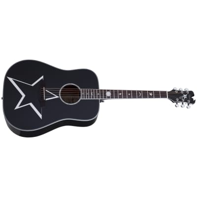Schecter Robert Smith RS-1000 Busker Gloss Black BLK Acoustic Guitar + Free Gig Bag RS 1000 The Cure for sale