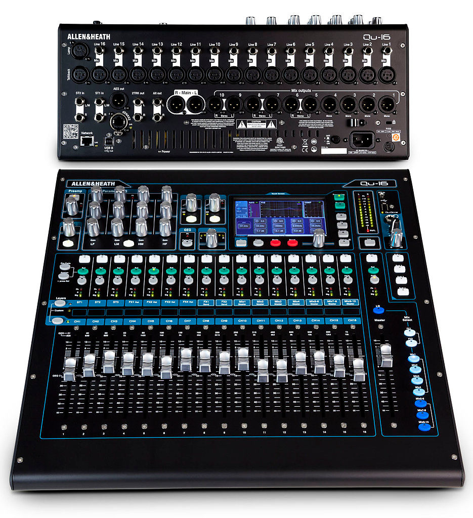 allen heath qu 16 16 channel digital mixer reverb. Black Bedroom Furniture Sets. Home Design Ideas