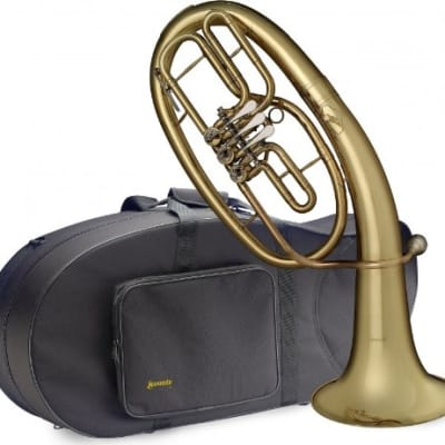 Stagg LV-BH5605 Brass Body 3 Rotary Valves Bb Professional Baritone with Soft Case