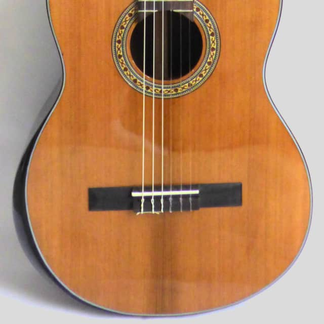Aiersi Solid Top w/Rosewood Body- Vintage Spanish Classical Guitar w/Solid Armrest & Scoop Cutaway image