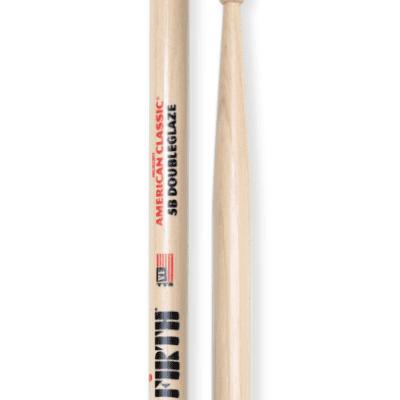 Vic Firth 5B DoubleGlaze Wood Tip Drum Sticks 5BDG (3-Pair)