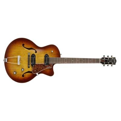 Godin 5th Avenue Cutaway Kingpin II Arch Top Acoustic, Cognac Burst (w/TRIC Case)