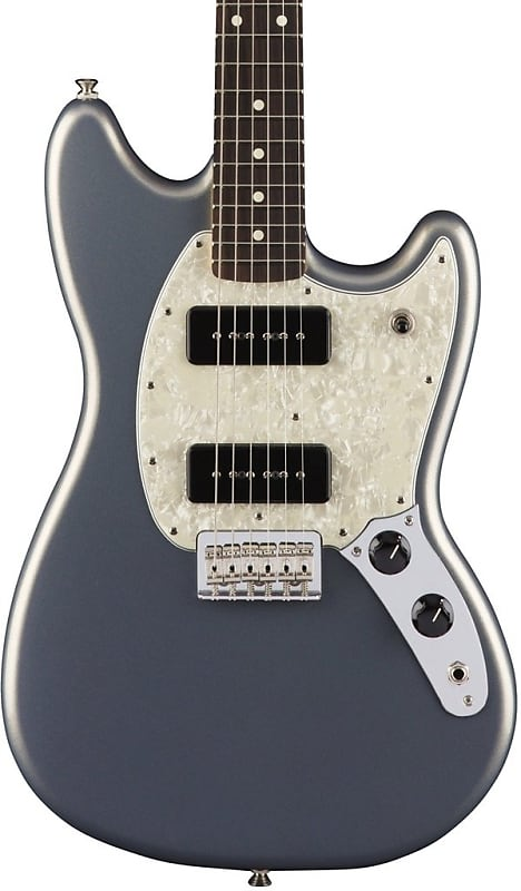 fender mustang 90 electric guitar silver sound of music reverb. Black Bedroom Furniture Sets. Home Design Ideas