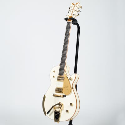 Gretsch G6134T-58 Vintage Select '58 Penguin Electric Guitar with Bigsby - Ebony, Vintage White for sale