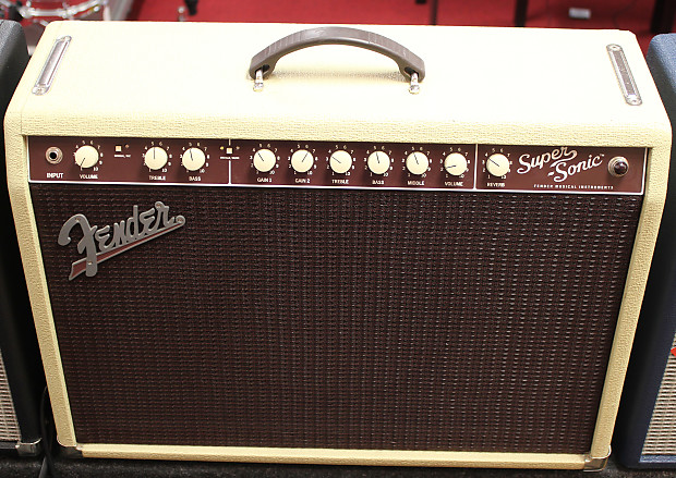 fender super sonic 22 blonde oxblood tube guitar 22 watt reverb. Black Bedroom Furniture Sets. Home Design Ideas