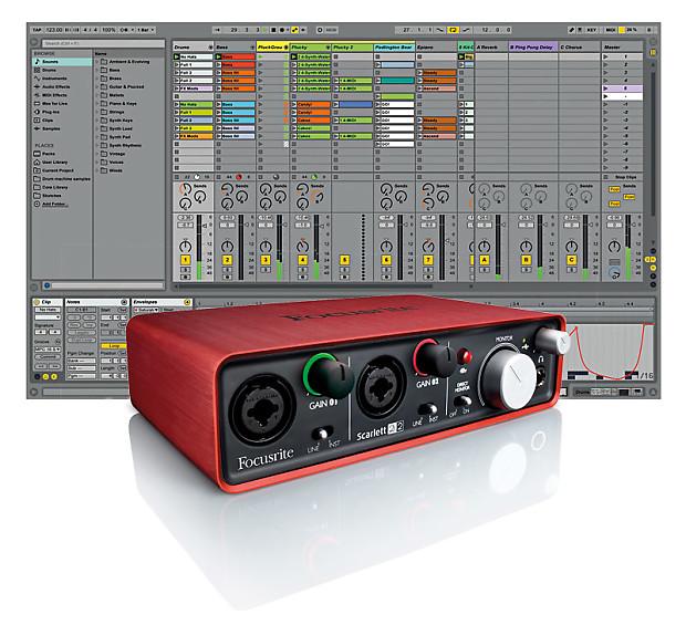 Ableton Live 9 (Serial Download) and Focusrite Scarlett 2i2 Interface Bundle