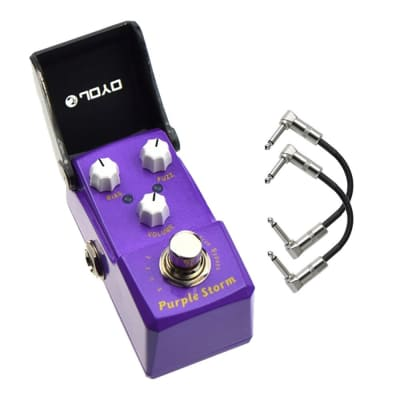 Joyo JF-320 Purple Storm Fuzz Ironman Mini Guitar Effect Pedal with Patch Cables for sale