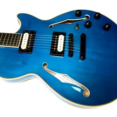 D'Angelico Fabrizio Sotti Custom Blue Flame Maple for sale