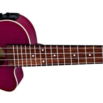 Ortega Earth Series Acoustic Electric Ukulele Ruby Raspberry for sale