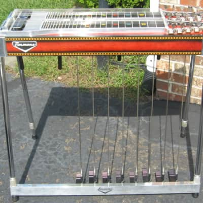 Emmons  D-10 Pedal Steel, Push/Pull 1980 Red Sunburst Lacquer for sale