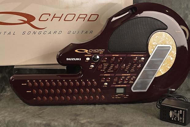 Suzuki Q Chord Digital Songcard Guitar Qc 1 W Power Supply Reverb