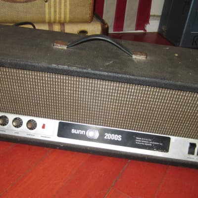 Vintage 1969 SUNN 2000 S Amplifier Head Black for sale