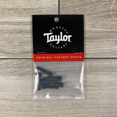 Taylor Ebony Bridge Pins w/Abalone Dots, 6-Pack