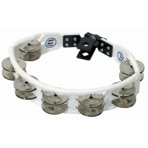 Latin Percussion LP162 Cyclops Mountable Tambourine with Double Row Steel Jingles